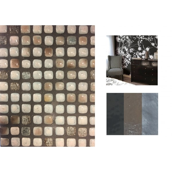 mosaico cm 1x1 effetto raku