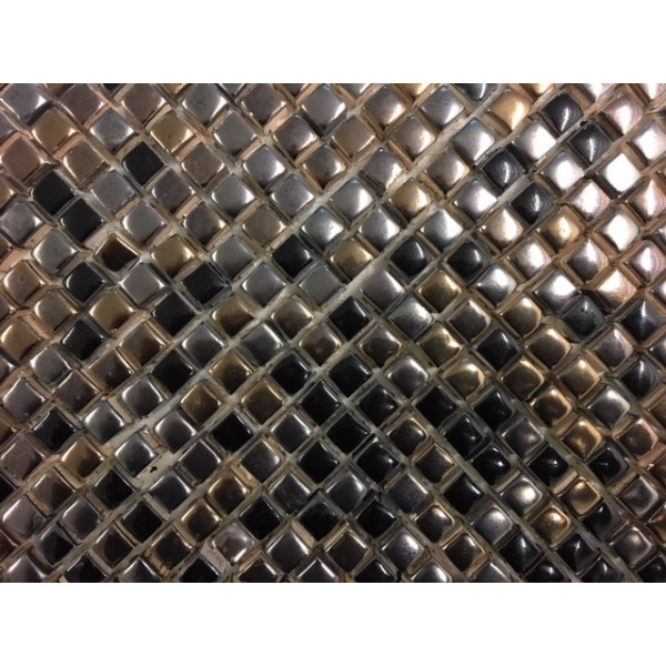 mosaico cm 1x1 effetto metal